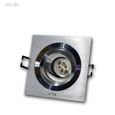 10x Einbauleuchte Eckig Aluminium gebürstet, schwenkbar GU10 230V Einbaustrahler
