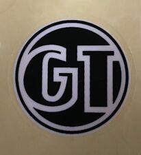 GT BIKES - CIRCLE LOGO - STICKER - DECAL -BMX STICKER - RETRO - BLACK