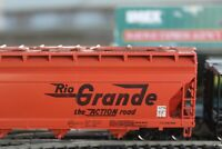 RIO GRANDE 4 BAY COVERED BULK HOPPER car rtr built CAR 1/87 ho ATHEARN  WALTERS