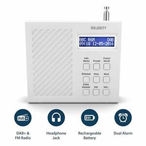 Majority Arbury II DAB/DAB+ Digital + FM Portable Radio, Rechargeable 6 hr