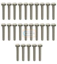 Pack 25 - M8X40 Hex Set Screw Threaded Zinc Hexagon Head Bolt Bzp Fixing (8mm)