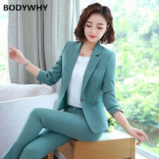 Office Work Pant Suits Women Business Lady Uniform Piece Set Blazer Pants Jacket