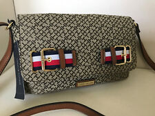 NEW ARRIVAL! TOMMY HILFIGER BROWN FLAP MESSENGER CROSSBODY SLING BAG $79 SALE