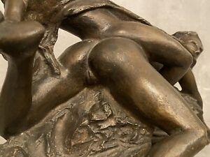 Bronze erotischer Akt Frauenakt signiert Sexualakt Bronzeakt 1 von 9 Brutalismus