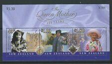NEW ZEALAND 2000 QUEEN MOTHER MINIATURE SHEET UNMOUNTED MINT