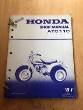Official Honda ATC110 Shop Manual '81