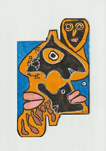 dessin original - art brut art singulier outsider art - Pierre Albasser - 2021