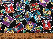 """Rayon Cotton Fabric Pictures of Magazines Concord Fabrics, Inc 18"""" x 60"""""""