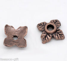 350 Copper Tone Flower Bead Caps Findings 6x6mm