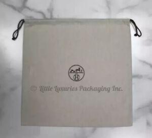 "BRAND NEW, MINT Authentic Hermes Handbag Storage Drawstring Dust Bag 18"" x 17.5"""