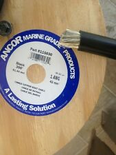 1 Awg Gauge Black Ancor Marine Tinned Copper Boat Battery Cable Wire 20' Min