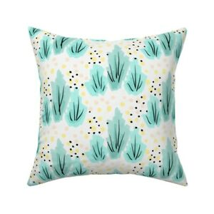 Ink Hand Drawn Watercolor Rough Throw Pillow Cover w Optional Insert by Roostery