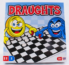 TRADITIONAL BOARD GAMES DRAUGHTS for Adults and Children