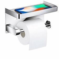 Queta Toilettenpapierhalter WC Halter Rollenhalter ohne Bohren (Silber)