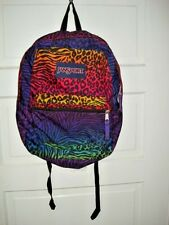 Jansport Backpack Animal Multi Color 1 Large Compartment 16.5x12x5.5""