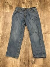St Johns Bay Flannel Lined Jeans Size 34x29 Blue