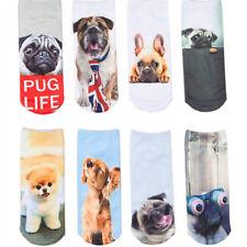 Unisex Short Socks Funny 3D Dog Printed Ankle Socks Casual Socks Cute Animal