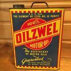 Vintage Oilzwel Motor Oil  2 Gallon  Can