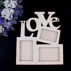 Sweet Love Wooden Photo Frame With 3 Wood Picture Frame Home Decor DIY Gift G=