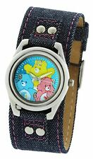 3 Color Bears Kids Watches 32MM In Silver Metal Base Denim Over Leather Strap
