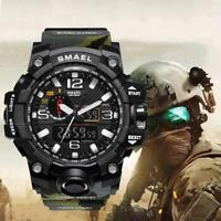 Herren Multifunktions Wasserdicht Datum Militär Quarz Digital Armbanduhren New