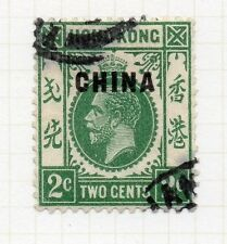 Hong Kong China Post Office 1917-21 Early Issue Fine Used 2c. Optd 161270