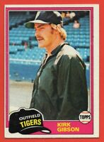 1981 Topps #315 Kirk Gibson EX-EXMINT Detroit Tigers Michigan State FREE SHIP