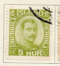 Iceland 1922 Early Issue Fine Used 5a. 102789