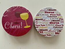 NEW Wine Paper Coasters Cheers Glass Wine Varieties- Perfect For Tasting Party