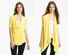 NEW TED BAKER Gorgeous Yellow KARLY Short Sleeve Wrap Cardigan Sweater Sz 2 US 6