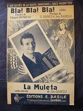 Partition Bla ! Bla ! Bla ! La Muleta Joss Baselli Music Sheet