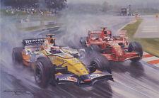 Formula 1 One Heikki Kovalainen Renault F1 Motor Racing Car Birthday Card