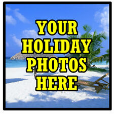 PERSONALISED COASTERS - OWN HOLIDAY PHOTO'S  - SET OF 4 COASTERS - GIFTS - NEW