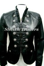 Lionstar Ladies Military Stylish Casual Fancy Victorian Real Leather Jacket