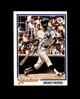 Mickey Rivers Hand Signed 1978 Topps New York Yankees Autograph