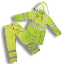 Forester Class 3 Hi Vis Green Rain Suit (Large)