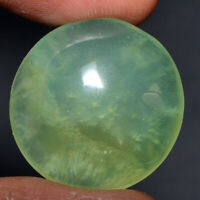 Cts. 30.95 Natural Prehnite cabochon Pear Shape Cab loose Gemstones