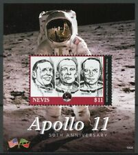 Nevis Space Stamps 2019 MNH Apollo 11 Moon Landing Neil Armstrong 1v S/S