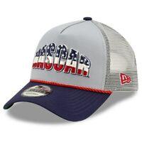 New Era NASCAR Gray 9FORTY A-Frame Trucker Mesh Adjustable Snapback Hat