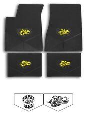 68-71 Dodge Super Bee Custom Rubber Floor Mats- Choose Logo and Color