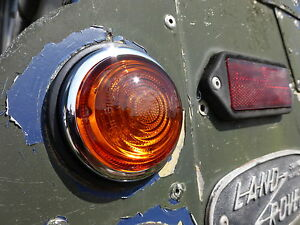 Land Rover Series 1 2a Lucas L488 Stainless Steel Indicator Light & Glass Lens