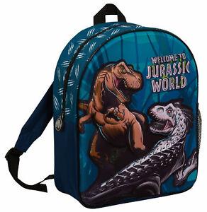 Jurassic World Bag Boys Backpack Kids T-Rex Dinosaur Rucksack School Lunch Bag