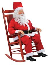 Life Sized Rocking Chair Santa with Sound Holiday Decor NEW IN BOX LIFE SIZED!