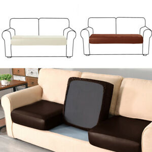 1/2/3/4 Seater PU Sofa Seat Covers Settee Protector Couch Slipcover Cushion