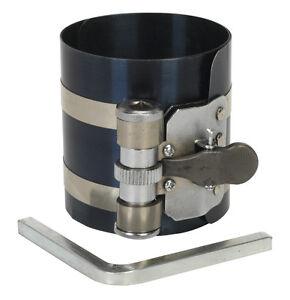 Sealey Engine Piston Ring Ratchet Type Compressor Clamp 60mm-125mm VS155