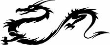 """Tribal Chinese Dragon - 9"""" x 3.75"""" Choose Color - Vinyl Decal Sticker #1762"""