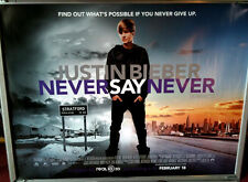 Cinema Poster: JUSTIN BIEBER NEVER SAY NEVER 2011 (Main Quad) Miley Cyrus