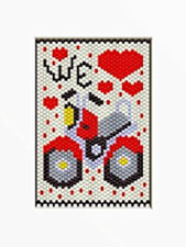 WE LOVE MOTOR CYCLES BEADED BANNER PDF PATTERN ONLY