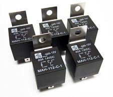 (5) 12V 12 Volt 60A Automotive Relays 60 Amp Metal Mounting Tab SPDT
