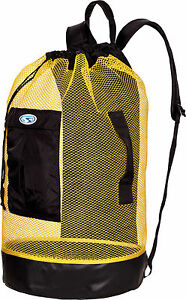 Stahlsac Panama Scuba Diving Travel Mesh Backpack Gear Bag Yellow NEW